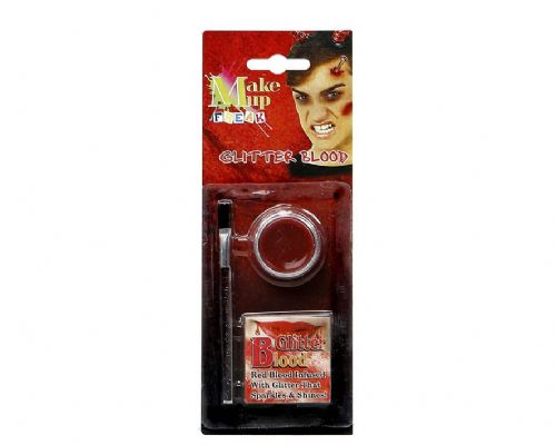 Blood Red Wax Makeup Glitter &  Brush